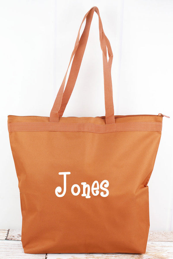 Liberty Bags Burnt Orange Large Zipper Tote