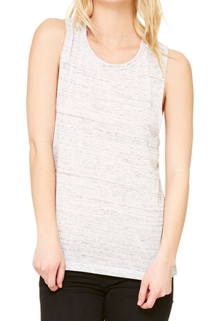 Land That I Love Leopard Flag Women's Flowy Scoop Muscle Tank