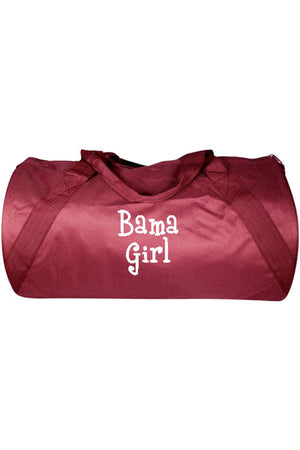 "Maroon Barrel-Sided Duffle Bag 18"" #8805-MAROON"