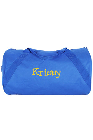 "Royal Blue Barrel-Sided Duffle Bag 18"" #8805-ROYAL"
