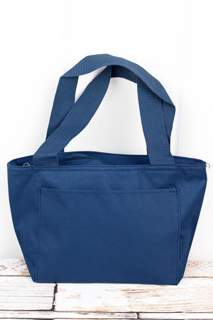 Navy Blue Insulated Lunch Bag