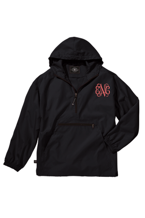 Charles River Youth Lightweight Rain Pullover, Black *Customizable!