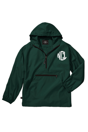 Charles River Youth Lightweight Rain Pullover, Forest *Customizable!