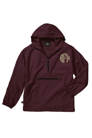 Charles River Youth Lightweight Rain Pullover, Maroon *Customizable!