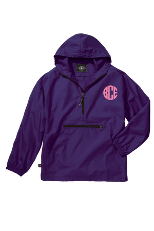 Charles River Youth Lightweight Rain Pullover, Purple *Customizable!