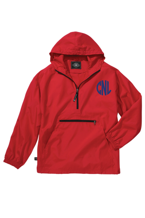 Charles River Youth Lightweight Rain Pullover, Red *Customizable!