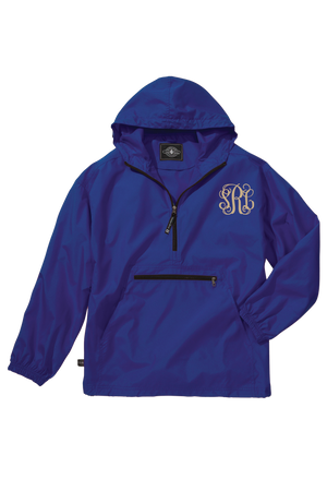 Charles River Youth Lightweight Rain Pullover, Royal *Customizable!