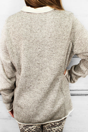 Charles River Heathered Fleece Pullover (Men's Cut), Oatmeal Heather *Customizable!