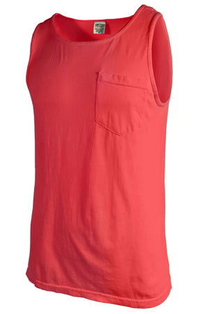 Shades of Red/Orange Comfort Colors Pocket Tank *Personalize It
