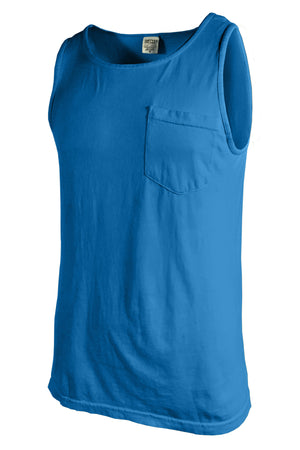 Shades of Blue Comfort Colors Pocket Tank *Personalize It