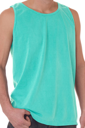 Shades of Green/Yellow Comfort Colors Cotton Tank Top *Personalize It