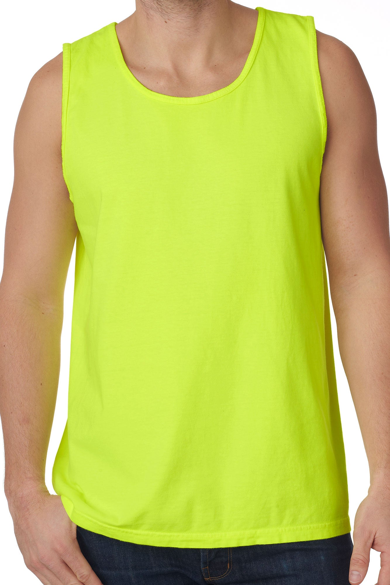 c162b48f981 Shades of Green/Yellow Comfort Colors Cotton Tank Top *Personalize It