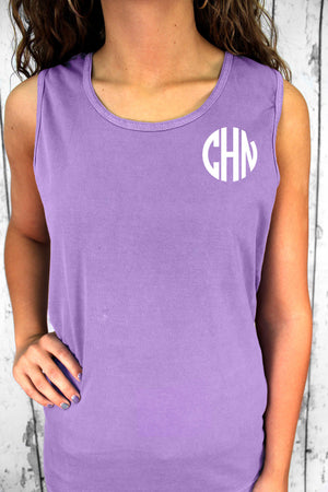 Shade of Pink/Purple Comfort Colors Cotton Tank Top #9360 *Personalize It