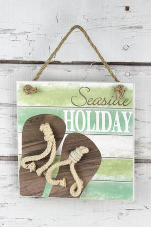 6 x 6 'Seaside Holiday' Flip-Flop Wall Sign