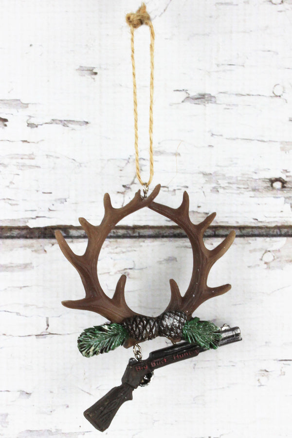 Antler and Gun 'Big Buck Hunter' Ornament, 4.75""