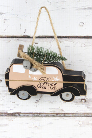 Peace On Earth Car with Tree Ornament, 3.75""