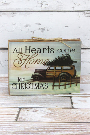 6 x 8 'Hearts Comes Home' Wood Sign