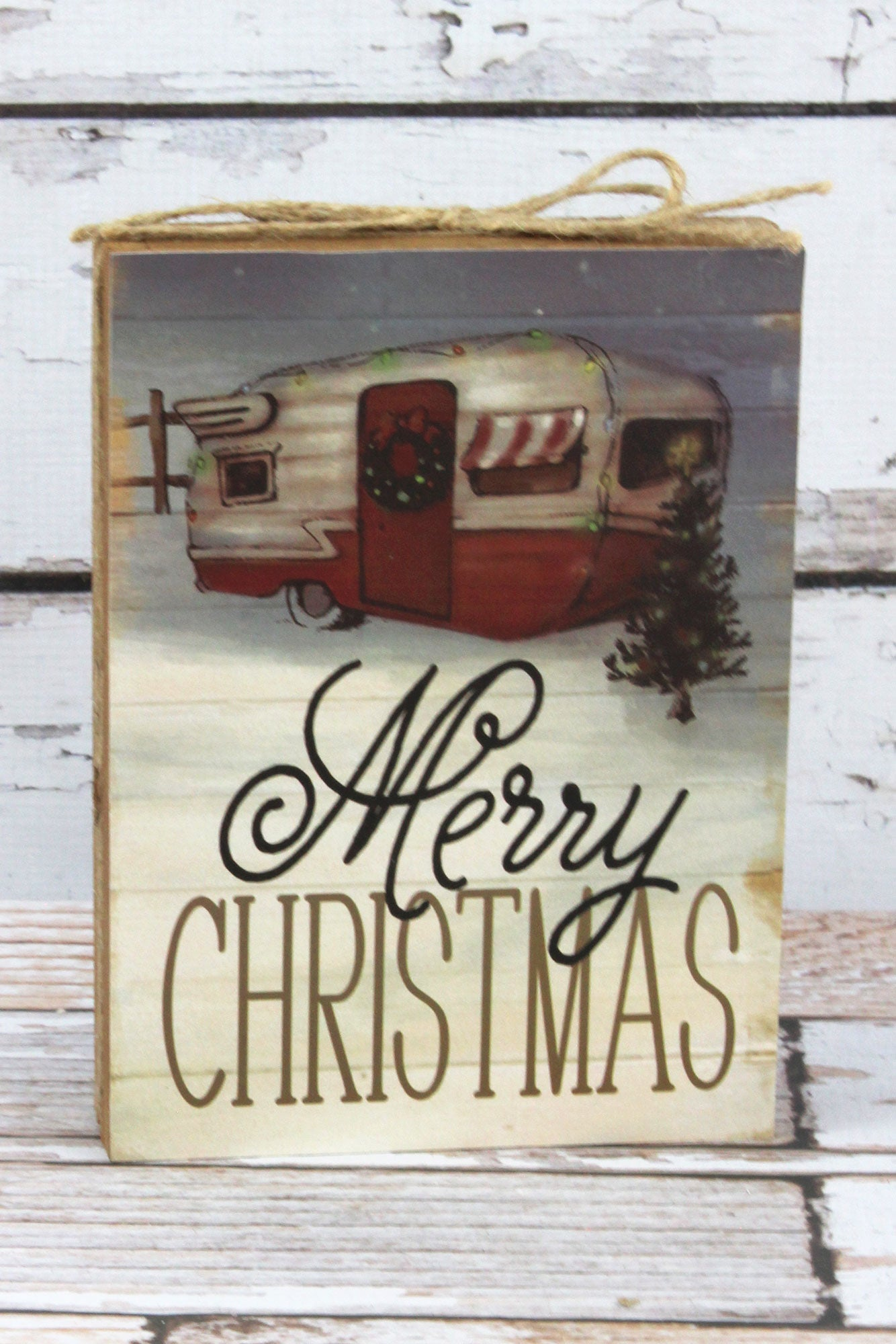 8 x 6 merry christmas wood sign