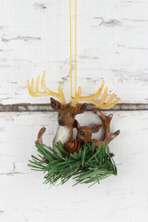 Deer Pair Ornament, 3.25""