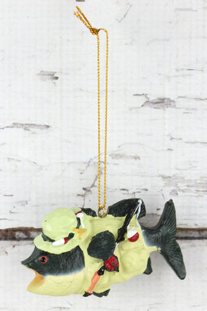 Fish Fishing Ornament, 2.25""
