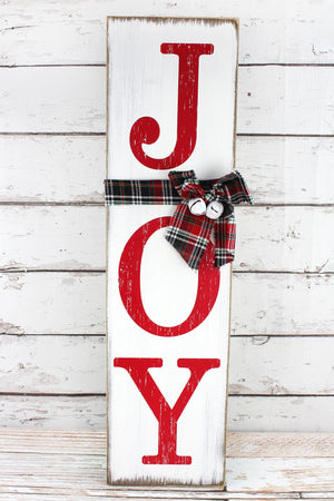 29 x 8 'Joy' Wooden Hanging Sign