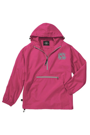 Charles River Lightweight Rain Pullover, Hot Pink *Customizable!