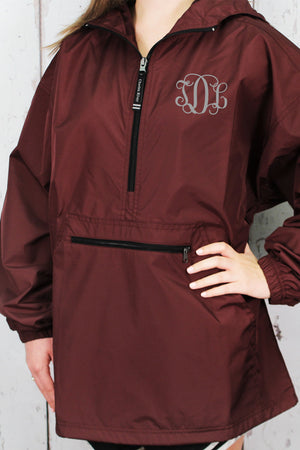 Charles River Lightweight Rain Pullover, Maroon #9904 *Customizable!