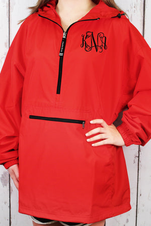 Charles River Lightweight Rain Pullover, Red #9904 *Customizable!