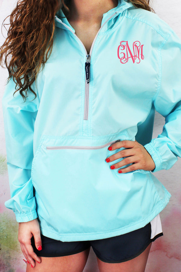 Charles River Lightweight Rain Pullover, Aqua #9904 *Customizable!