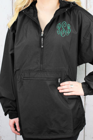 Charles River Lightweight Rain Pullover, Black #9904 *Customizable!