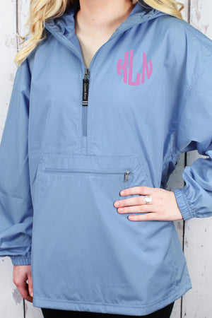 Charles River Lightweight Rain Pullover, Columbia Blue #9904 *Customizable!