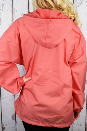 Charles River Lightweight Rain Pullover, Coral #9904 *Customizable!