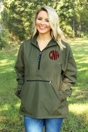 Charles River Lightweight Rain Pullover, Olive *Customizable!
