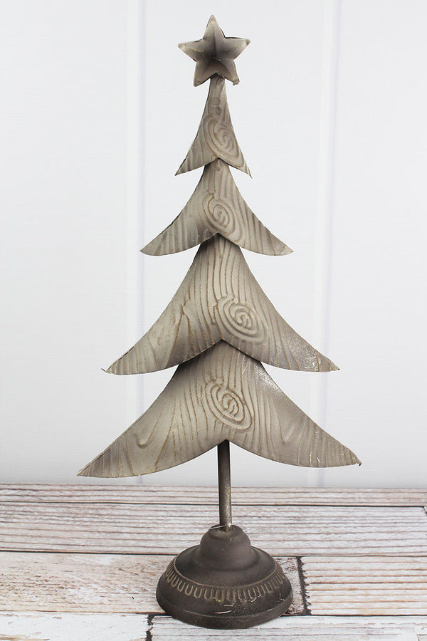 19 x 9.5 Metal Christmas Tree Tabletop Decor