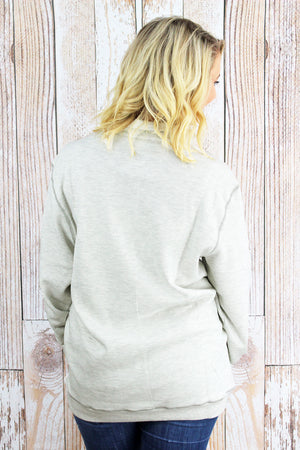 Charles River Unisex Conway Flatback Rib Pullover, Ivory Heather *Personalize It!
