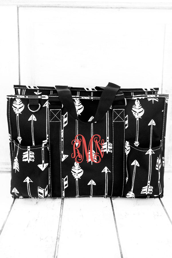 Straight & Arrow Black Utility Tote