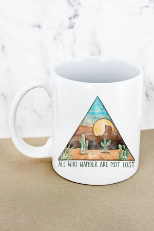 All Who Wander White Mug