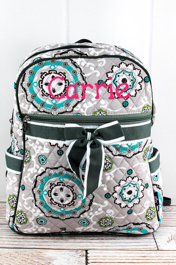 Garden View Quilted Backpack