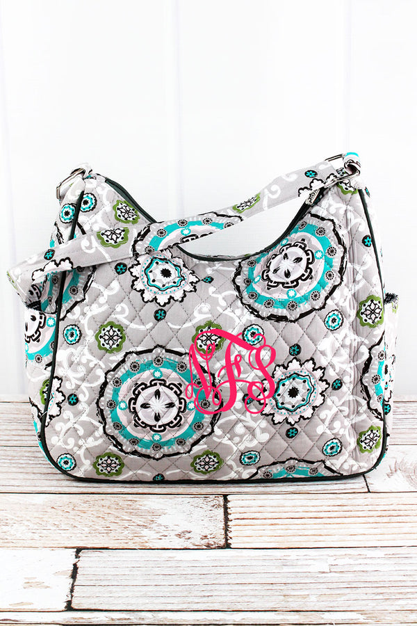 Garden View Quilted Shoulder Bag