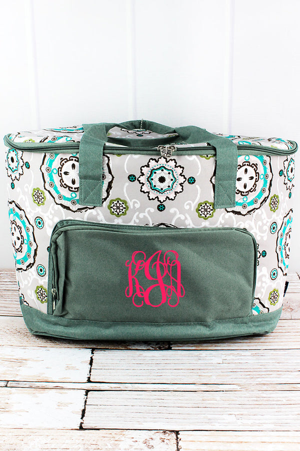 Garden View and Gray Cooler Tote with Lid