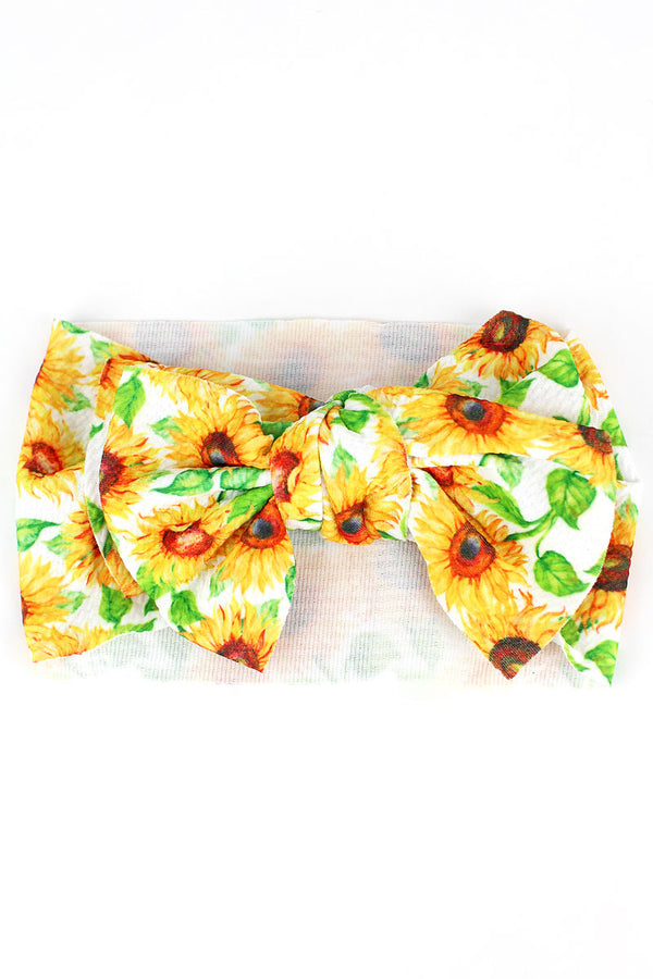 Sunflower Big Bow Baby Headband