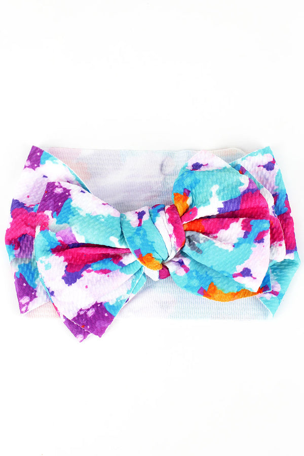 Watercolor Big Bow Baby Headband