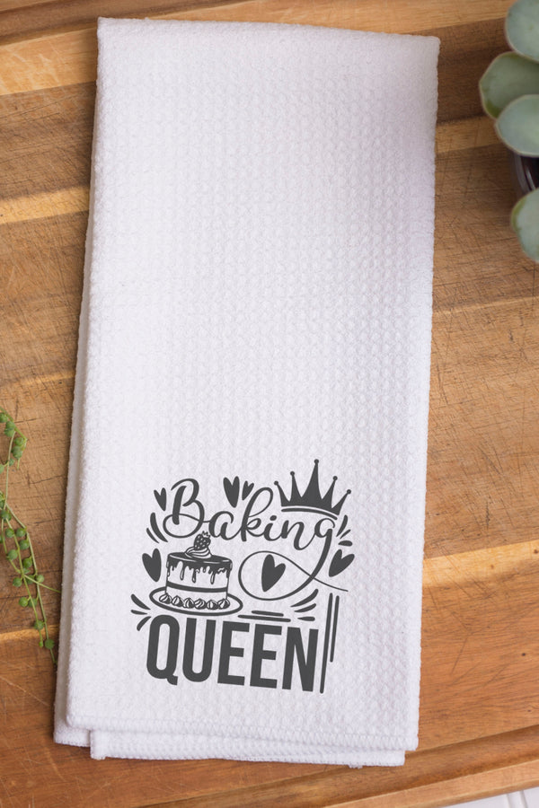 Baking Queen Waffle Kitchen Towel
