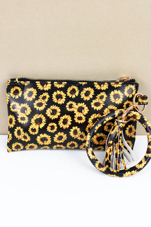 Sunflower Bangle Wristlet
