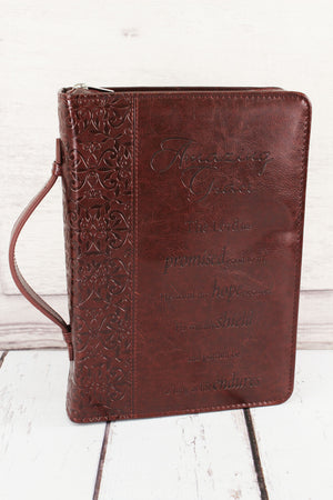 Maroon Amazing Grace Bible Cover