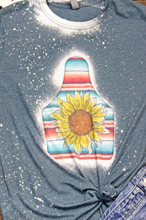 Bleached Sunflower Cow Tag Poly/Cotton Tee