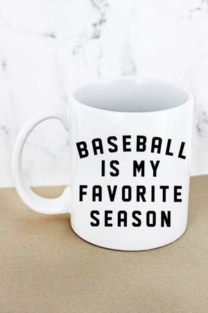 Baseball Is My Favorite Season White Mug