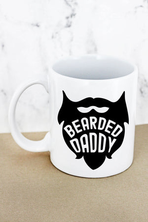 Bearded Daddy White Mug