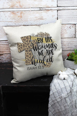 By His Wounds Decorative Pillow Cover