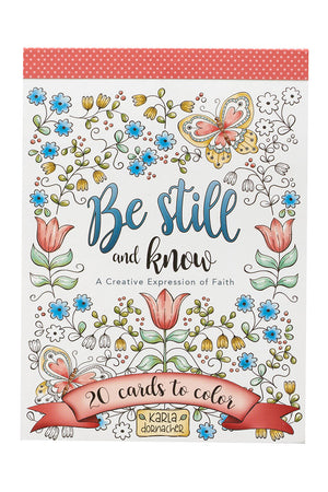 Set of 20 'Be Still and Know' Cards to Color